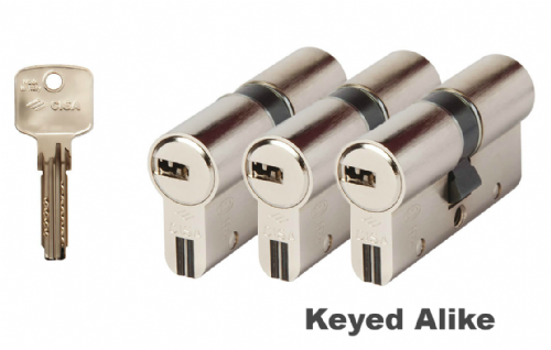 Cisa Astral S Anti-Snap Double Cylinders - Keyed Alike